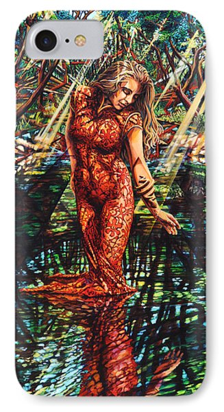 IPhone Case featuring the painting River's Edge by Greg Skrtic