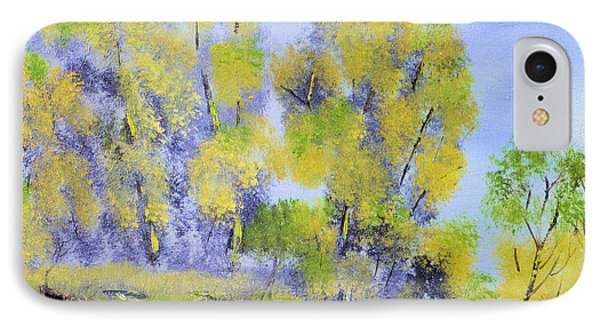 IPhone Case featuring the painting River's Edge by Michael Daniels