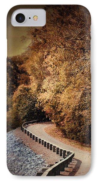 Riverside Drive In Autumn - Landscape IPhone Case