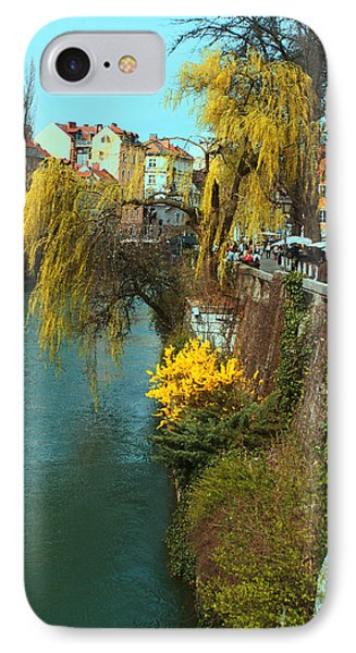 Riverside Walks Ljubljanica IPhone Case by Graham Hawcroft pixsellpix