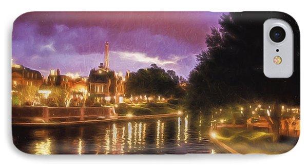 Riverwalk At Night  ... IPhone Case