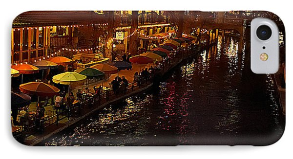 Riverwalk Night IPhone Case by Mary Jo Allen