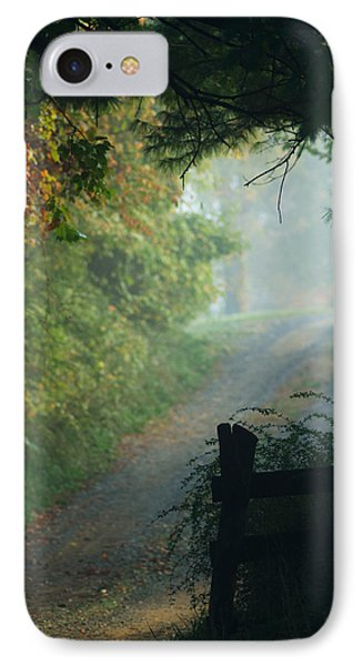Road Goes On IPhone Case by Michael McGowan