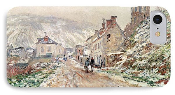 Road In Vetheuil In Winter Phone Case by Claude Monet