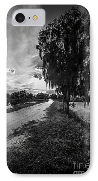 Road Into The Light-bw IPhone Case by Marvin Spates