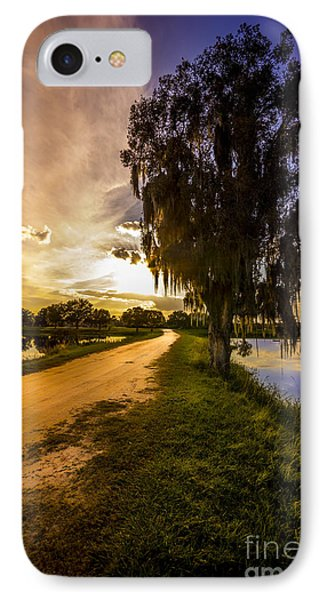 Road Into The Light IPhone Case by Marvin Spates