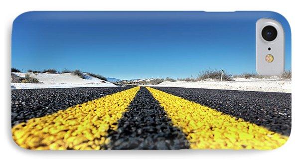 Road Markings On Asphalt IPhone Case by Wladimir Bulgar