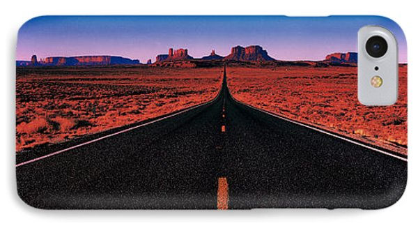 Road Monument Valley Tribal Park Ut Usa IPhone Case by Panoramic Images