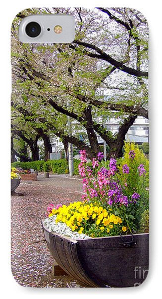 Road Of Flowers IPhone Case by Andrea Anderegg