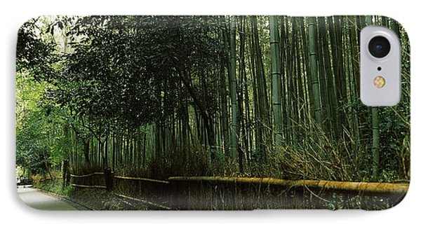 Road Passing Through A Bamboo Forest IPhone Case