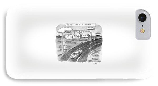 'road Rage Highway' IPhone Case