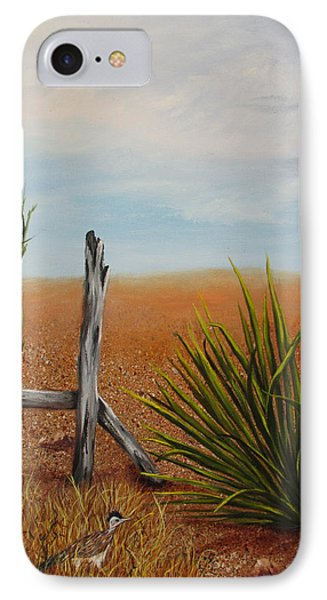 IPhone Case featuring the painting Road Runner by Roseann Gilmore