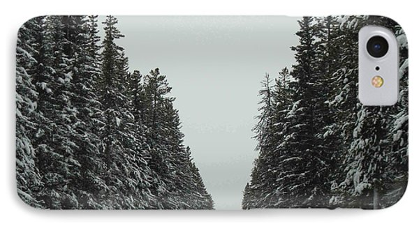 Road To Banff IPhone Case by Cheryl Miller
