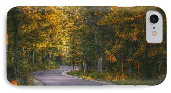 Road To Cave Point IPhone Case by Scott Norris