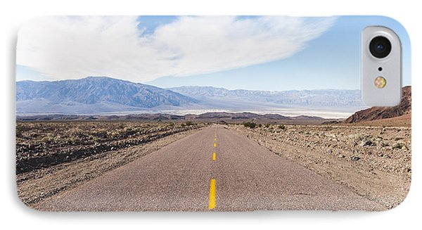 Road To Death Valley IPhone Case by Muhie Kanawati
