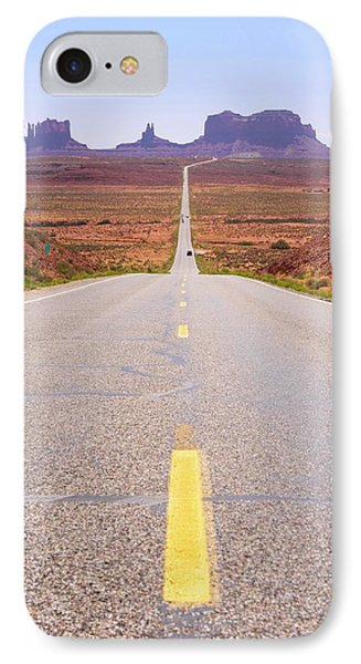 Road To Monument Valley. IPhone Case by Mark Williamson