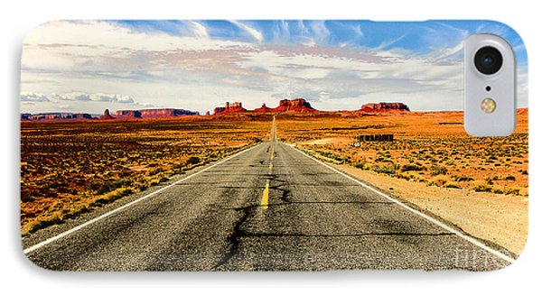 IPhone Case featuring the photograph Road To Navajo by Jason Abando