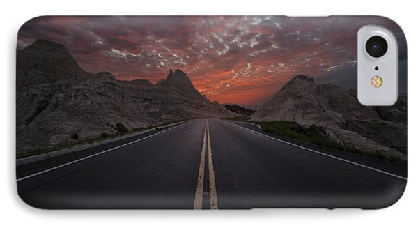 Road To Nowhere Badlands IPhone Case by Aaron J Groen