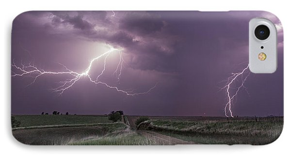 Road To Nowhere - Lightning IPhone Case by Aaron J Groen