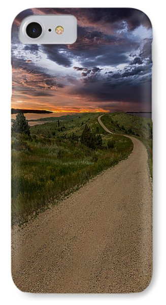 Road To Nowhere - Stormy Little Bend IPhone Case by Aaron J Groen
