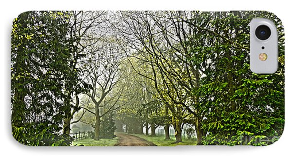 Road To The Manor House IPhone Case by Andrew Middleton