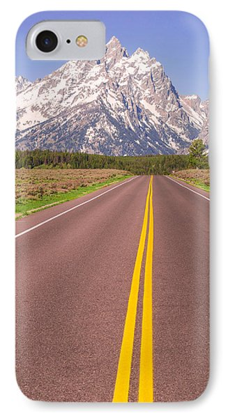 Road To The Tetons IPhone Case by Aaron Spong