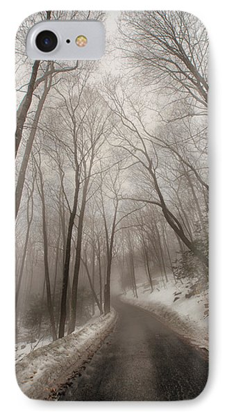 Road To Winter Phone Case by Karol Livote