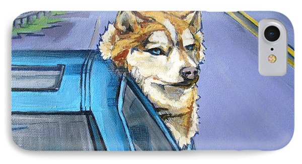 Road-trip - Dog IPhone Case by Grace Liberator