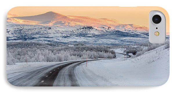 Road With Frozen Landscape, Extreme IPhone Case