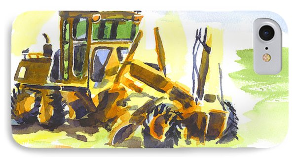 Roadmaster Tractor In Watercolor Phone Case by Kip DeVore