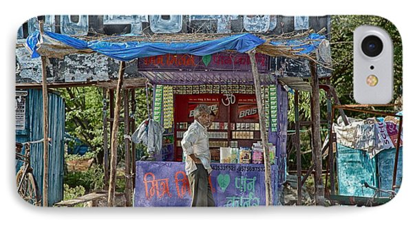 IPhone Case featuring the digital art Roadside Tobacco Parlor by John Hoey