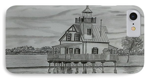 Roanoke River Lighthouse IPhone Case by Tony Clark