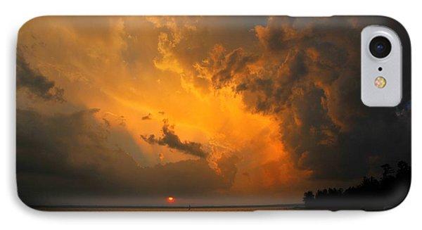 Roar Of The Heavens Phone Case by Terri Gostola