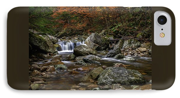 Roaring Brook - Sunderland Vermont Autumn Scene  IPhone Case by Thomas Schoeller