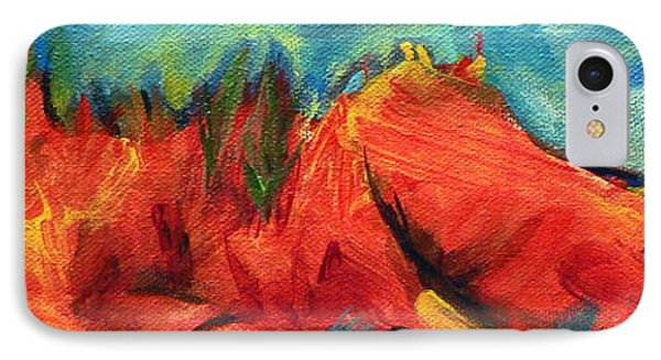 IPhone Case featuring the painting Roasted Rock Coast by Elizabeth Fontaine-Barr