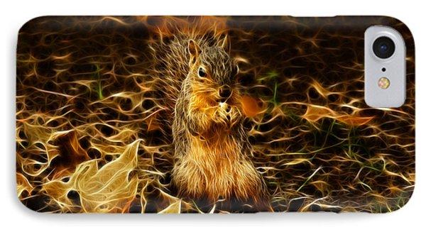 Robbie The Squirrel -1554 F Phone Case by James Ahn