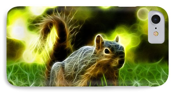 Robbie The Squirrel - 7376 - F IPhone Case by James Ahn