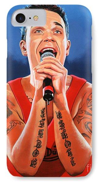 Robbie Williams Painting IPhone Case