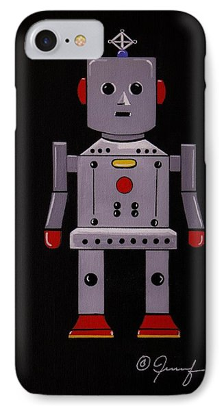 IPhone Case featuring the painting Robby The Robot by Jennifer Lake