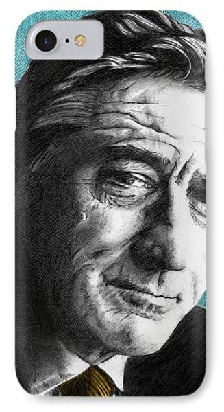 Robert De Niro - Individual Blue IPhone Case by Alexander Gilbert
