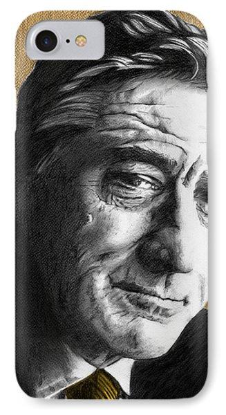 Robert De Niro - Individual Orange IPhone Case by Alexander Gilbert