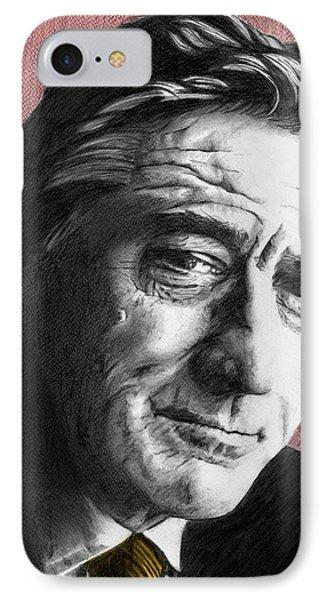 Robert De Niro - Individual Red IPhone Case by Alexander Gilbert