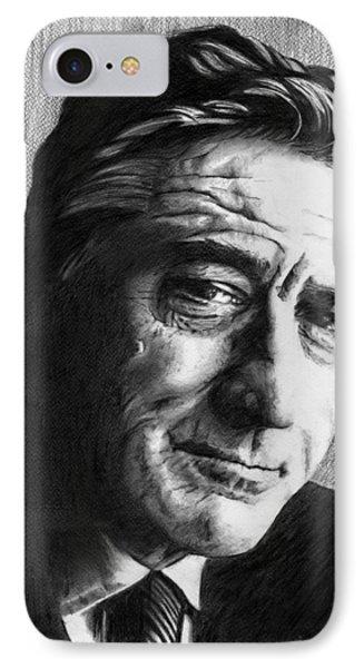 Robert De Niro - Pencil IPhone Case by Alexander Gilbert