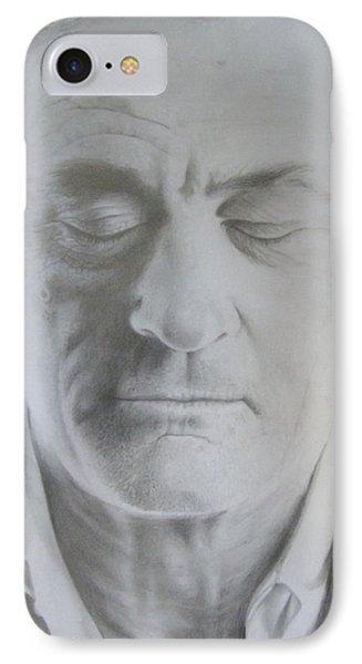 Robert De Niro Pencil Drawing IPhone Case by Bruce McLachlan