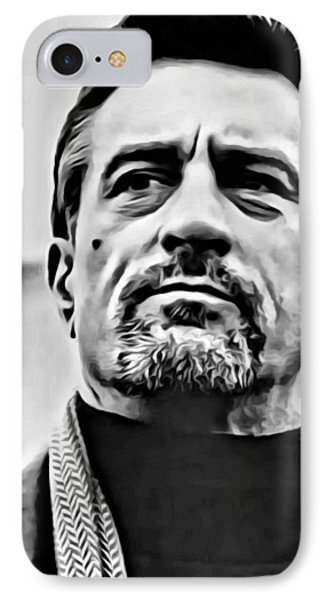Robert De Niro Portrait IPhone Case by Florian Rodarte