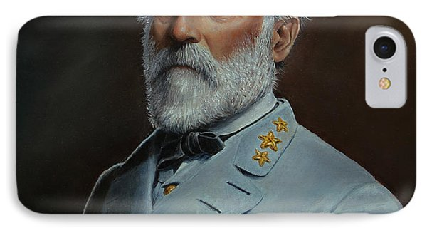 IPhone Case featuring the painting Robert E. Lee by Glenn Beasley