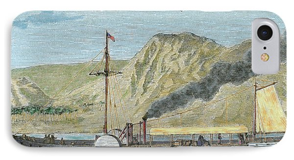 Robert Fulton's Steamboat IPhone Case by Prisma Archivo