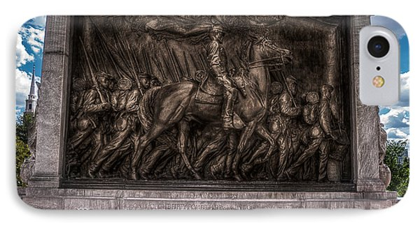 Robert Gould Shaw Memorial On Boston Common IPhone Case by Tom Gort