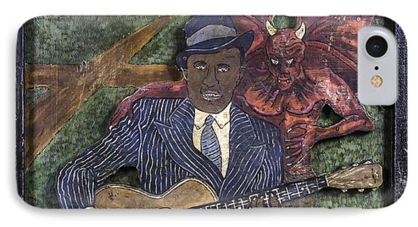 Robert Johnson At The Crossroads IPhone Case by Eric Cunningham