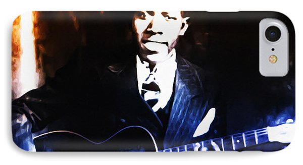 Robert Johnson - King Of The Blues Phone Case by Bill Cannon